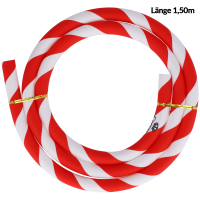 Silikonschlauch   Striped   Rot/Weiß