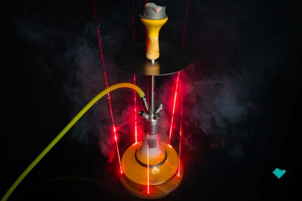 Shisha Cloud | Laser V1 | Holzuntersetzer | 5 Dioden