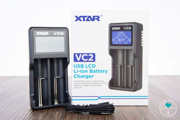 XTAR | VC2 | USB LCD Li-ion Battery Charger | inkl. USB Kabel