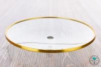 Diamond   Kohleteller   Glas   Gold