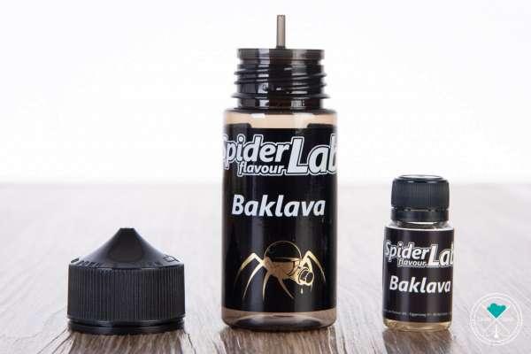 SpiderLab | Baklava | Aroma | 13ml in 100ml Flasche| 0 mg/ml