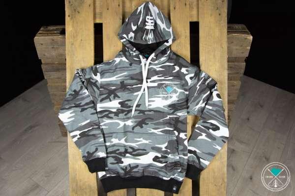 Shisha Cloud | Hoody | Gr. XXL | Camouflage Grau