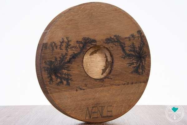 Holz Untersetzer | Vintage | Aventus-Logo | 27cm