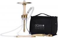 Ocean Hookah | Kaif Small | Gold-White Wood-Clear