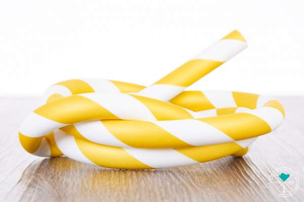 Gold/Weiß | Striped | Matt | Silikonschlauch