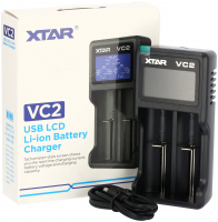 XTAR | VC2 | USB LCD Li-ion Battery Charger | inkl. USB Kabel