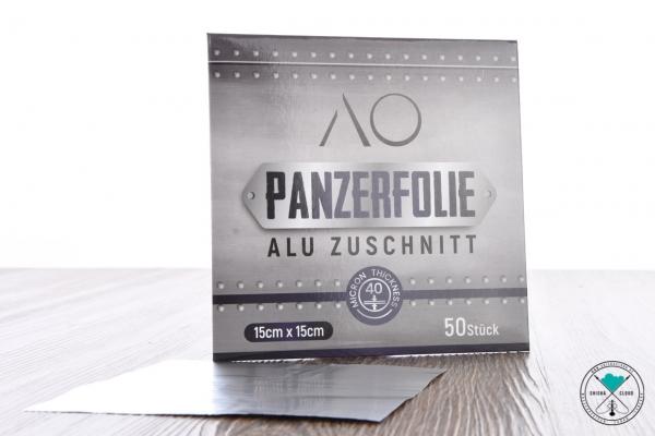 AO | Panzerfolie | Aluminium Zuschnitte | 15 x 15 cm
