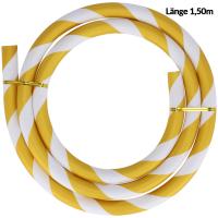 Silikonschlauch | Striped | Matt | Gold/Weiß