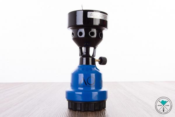 AO   Gaskocher   mit Kohlegitter   Blau