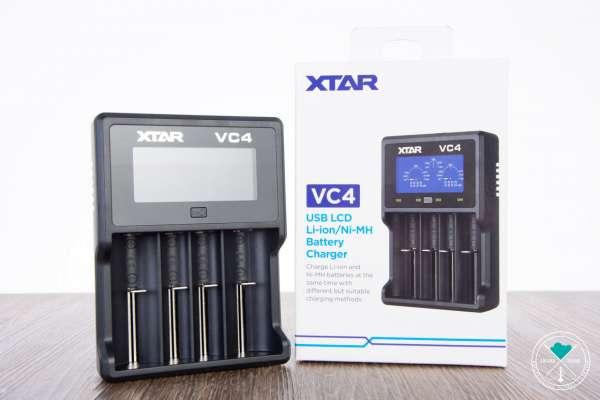 XTAR | VC4 | USB LCD | Li-ion | Ni-MH | Battery Charger | inkl. USB Kabel & Tasche