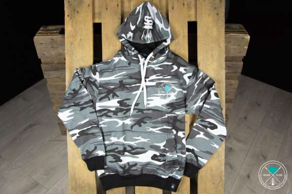 Shisha Cloud | Hoody | Gr. S | Camouflage Grau