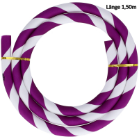 Silikonschlauch | Striped | Violett/Weiß